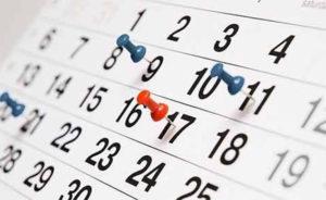 Lámina calendario