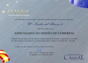 Diploma curso de diseño de portadas INSEDIC